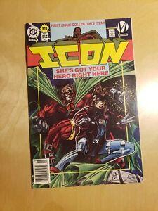 Icon #1 1993 DC Comics and Milestone. Newsstand edition.