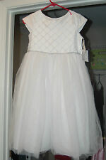 BELLA MARMELLATA Flower Girl 1st COMMUNION Pageant White Dress-NEW SIZE 12