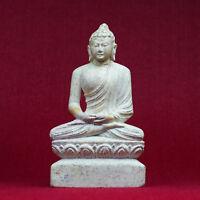 Bouddha Figurine Marbre Sculpté Nepal Fait à la Main Feng Shui Asie Statuette 18