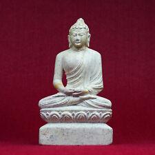 Buddha Figur aus Marmor geschnitzt Nepal Handwerk Statue 01