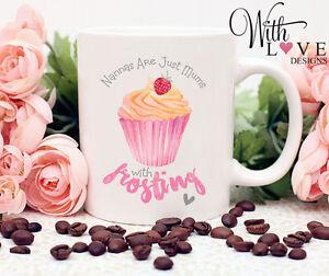 NANNY NANNA GRANDMA NAN MOTHERS DAY CUPCAKE COFFEE MUG TEA CUP PERSONALISED GIFT