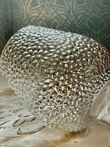 Next Silver Monroe Glass Hurricane Vase Pillar Candle Goes Tea Light Holders