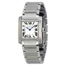 Cartier Tank Francaise Silver Dial Ladies Watch WSTA0005