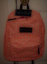 *SALE* Jansport SUPERBREAK Backpack School Book Bag ORANGE Polka DOTS Unisex