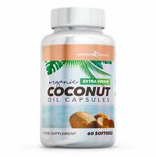 Huile Noix de Coco Capsules Extra Vierge 1000mg (60 Doux Gels ) GB Fabriqué