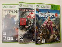 3 xbox 360 games Lot Farcry4, Dead Island, Titanfall