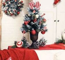 """Kringle Express 24"""" Pre-lit Decorated ChristmasTree Gift Box H201456 CANDY CANE"""