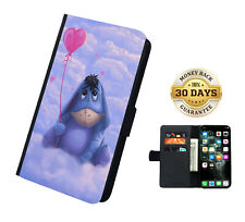 Winnie The Pooh Eeyore Faux Leather Flip Phone Personalised  Case Cover Wallet