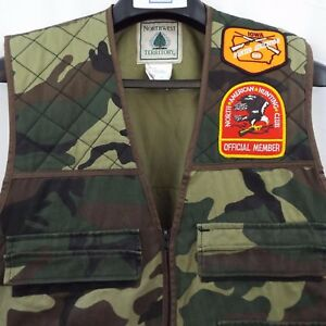Northwest Territory Camouflage Hunting Vest Zip Light Jacket Mens M w. Patches