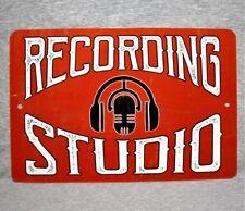 "Metal Sign RECORDING STUDIO sound mixing audio engineer music aluminum 8"" x 12"""