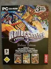 PC CD-ROM - Atari - Roller Coaster Tycoon 3 - ab 6 Jahre - 3 Spiele