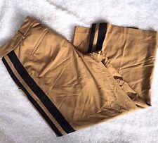 Lane Bryant Lena Tailored Stretch Tuxedo Stripe Wide Leg Pant Plus Size 28 R Tan