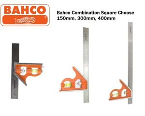 Bahco Combination Set Square Stainless Ruler Choose 150mm, 300mm, 400mm