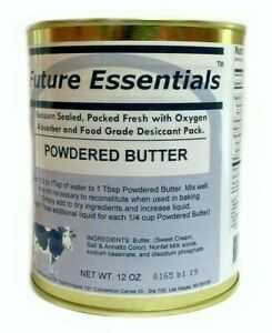 Canned Butter by Future Essentials, Powdered, Long Shelf Life, Made in the USA