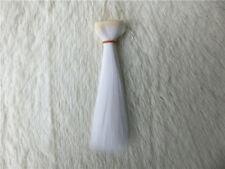 1/3 1/4 1/6  BJD/SD Doll Wig High Temperature Silk Hair Piece Dollfie white 1#
