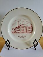 Vintage Plate North Madison School Indiana 1908-1958 Gold Trim Madison Indiana