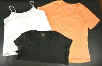 Faded Glory Women's 2X Various Styles & Colors V-Neck, Tank, T-Shirt Lot of 3
