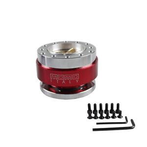 Aluminium Car Steering Wheel Quick Release HUB Adapter Snap Off Boss Kit RED