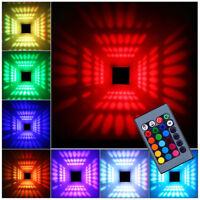 RGB Wandleuchte Wandlampe Flurlampe Wandbeleuchtung Effektleuchte 3W