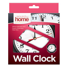 Small Wall Clock Plastic Antique Vintage Style Bedroom Kitchen Quartz Time OTL