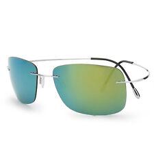 100% Titanium Rimless Sunglasses Polaroid Gafas Men Polarized Sun Glasses