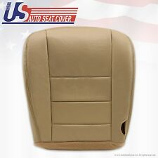 2002 to 07 Ford F250 350 Lariat Driver Bottom Replacement Seat Cover LEATHER TAN