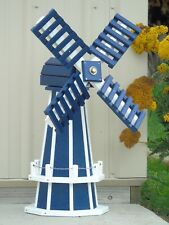 "30"" Poly Dutch Windmill (Patriot Blue with White trim)"