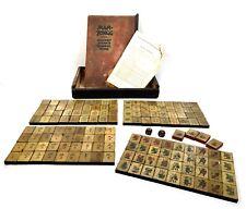 Antique F. Ad. Richter & Co Stone Mahjong Set / Mah Jong Game / German / 1920