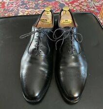 Allen Edmonds VERNON Black Brogued Toe Oxford Size 12D $245