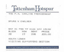 Billet 1996/97 Premiership-Tottenham Hotspur C. Chelsea