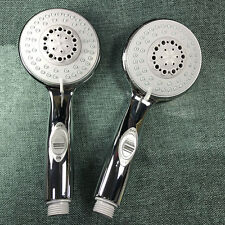 Luxury Chrome High-Power 4inch 6-Setting Hand Shower with ON/OFF Pause Switch