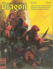 TSR AD&D Dungeons & Dragon Magazine #112 Star Frontiers!