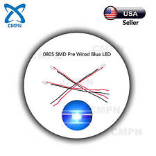 20Pcs 0805 2012 SMD LED Chip Pre Wired SMT Micro Blue Light Lamp Diodes Beads