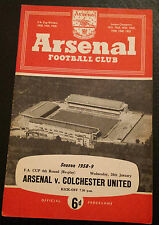 1958/59 FA CUP Arsenal v Colchester United (4th Round Re-play)