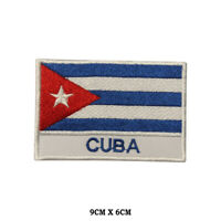 Cuba National Flag Embroidered Patch Iron on Sew On Badge For Clothe etc