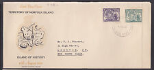 """NORFOLK ISL LDC: 1956 PITCAIRNERS REGISTERED  """"LAST DAY COVER"""" LONG FORMAT SCAR!"""