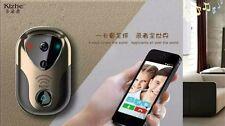 WiFi Smart Video Camera Door Phone Doorbell Eye Visual Ring Intercom Monitor