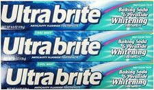 Ultra Brite Toothpaste Baking Soda & Peroxide WHITENING 6oz  170g ( 3 pack )