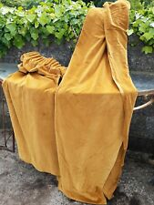 Mustard Yellow Velvet Curtains 78in Long X 32in Wide Vintage