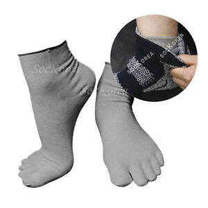 3 Pairs Lot Mens Gray Performance Lightweight Thinner Cotton Toe Sock Liners ATB