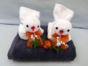 Handtuch Geschenk Figur Vogelpaar Waschlappen Gastgeschenk Ostern
