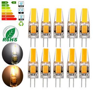 12x 10x G4 LED COB 3W 6W Birnen AC DC 12V Lampen Warmweiß Kaltweiß Leuchtmittel