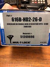 MUL-T-LOCK  MT5  HERCULAR  DEADBOLT  LOCK   616B-HD2 Double Cylinder 26D