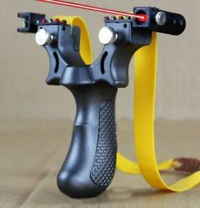 Steinschleuder Laser Profi Jagd Katapult Slingshot Gummiband Sportschleuder DHL