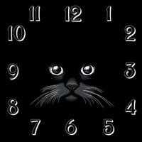 5D DIY Full Drill Diamond Painting Clock Cat Cross Stitch Embroidery Crafts #gib