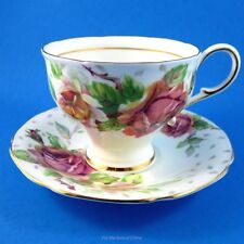 Pretty Tapered Paragon Golden Emblem Tea Cup and Saucer Set