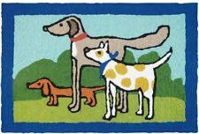 """Jellybean Indoor Outdoor Rug Dogs Proper Pals 21"""" x 33"""""""