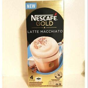 NESCAFE GOLD LATTE MACCHIATO Premix Coffee Finely Ground Roasted Coffee 4 sticks