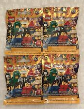 LEGO Minifigures SERIES 18  Lot Of 4 Blind Surprise Bags, 40th Anniversary NEW!