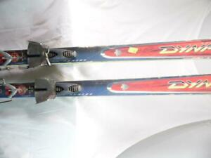 DYNASTAR V8 VERTICAL ASSAULT SERIES TELEMARK SKIS WITH BINDING USED 200 THRASHED